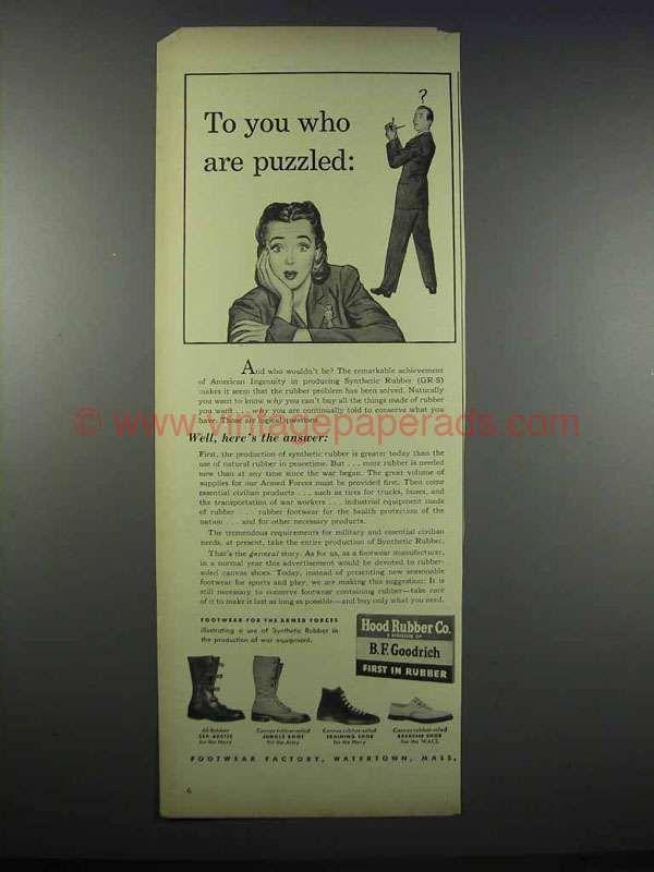 1944 B.F. Goodrich Rubber Footwear Ad - Jungle Boot