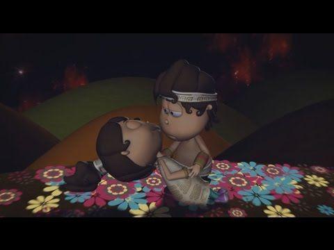 La Leyenda de los Volcanes Popocatépetl e Iztaccíhuatl animada - YouTube