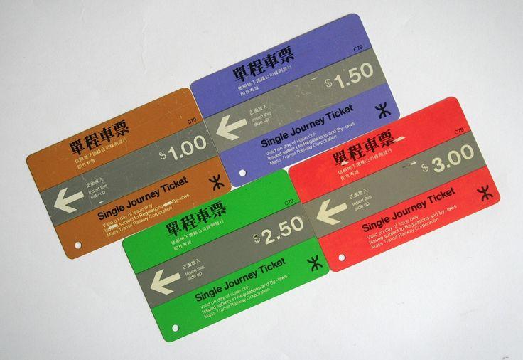 地鐵車票:香港地鐵。英文是 Mass Transit Railway。簡稱為 MTR。1979年通車。當時單程最低票價為1元。其時巴士 ...