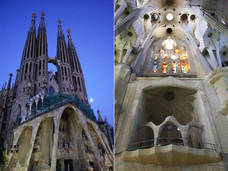 Top 10 de los lugares de mayor interés turístico de España  La Sagrada Familia de Barcelona