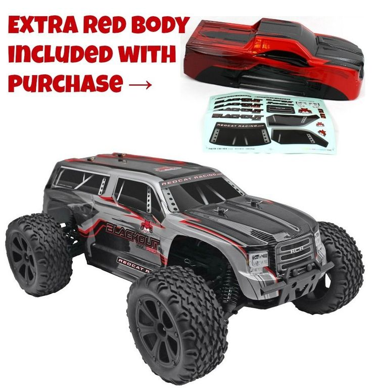 Redcat Blackout XTE PRO 1/10 Brushless Electric RC Truck With Extra Red Body #RedcatRacing