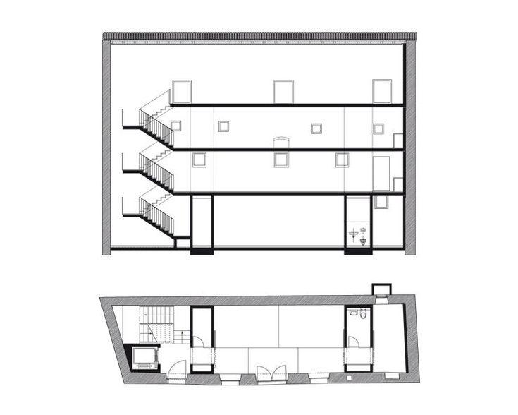 Durisch nolli casa per uno scultore mendrisio for Log home planimetrie