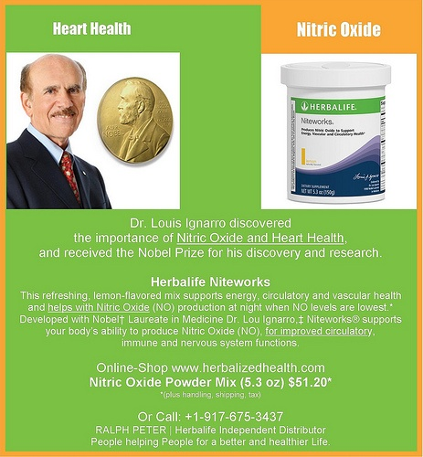 Nitric oxide dietary supplements enhance blood flow and have proved to be helpful for people seeking to get into shape, although not for athletes and people already in shape. Herbalife Heart Health - Niteworks - Nitric Oxide