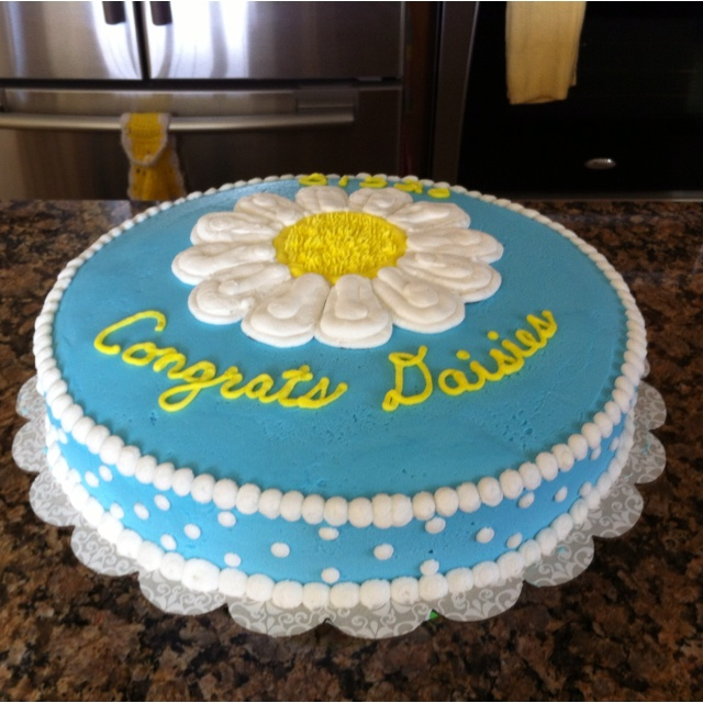 the daisy cake i made for the daisy bridging ceremony i