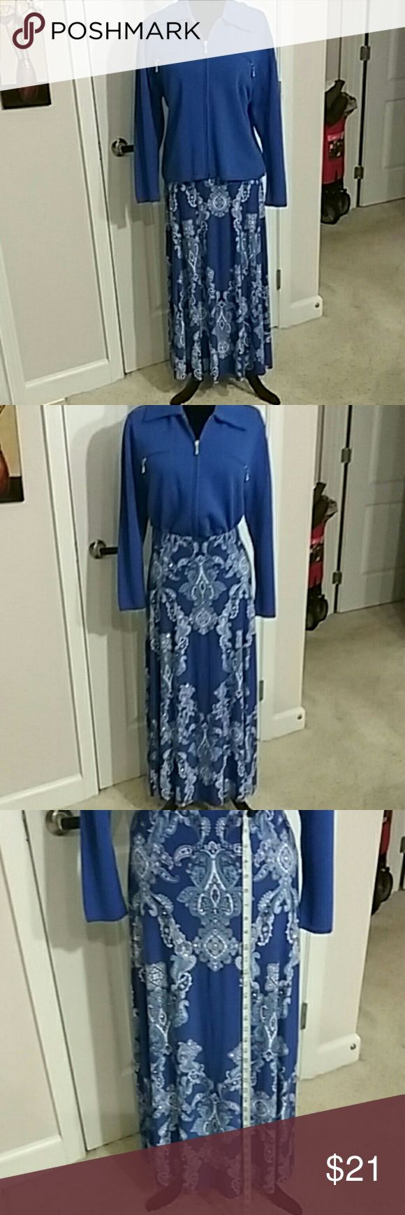 I*N*C International Concepts SKIRT LARGE  WORE one time Inc International Concepts 95% polyester 5% spandex Machine washable Beautiful fit  Comfortable INC International Concepts Skirts Maxi