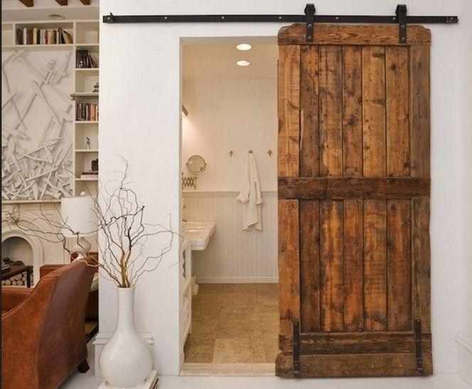 Interior Sliding Barn Door Reclaimed Wood Design Home Decor