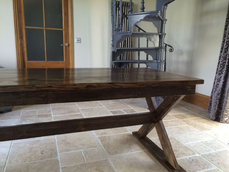 Large reclaimed scaffold dining table / rustic farmhouse table / large dining table / reclaimed wood table / hand made reclaimed wood table by OmniaRedivivusLtd on Etsy