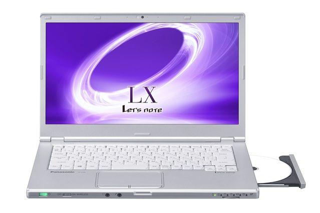 Panasonic /  Let's note CF-LX5ZD9QR - 14インチ液晶搭載ながら、13インチクラスのコンパクトボディ。 バッテリー駆動時間(JEITA2.0※1)約19時間※2 第6世代インテル® Core i7プロセッサー、SSD256GB 、メモリー8GB、ブルーレイディスクドライブ、Microsoft Office Premium搭載モデル。 耐圧100kgf、76cm落下試験を実施した頑丈設計。