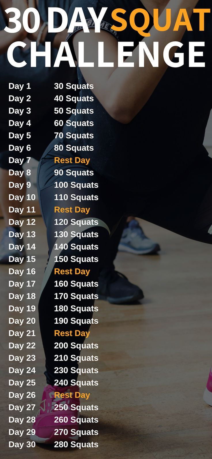 30 Day Squat Challenge To Transform Your Butt – Sports