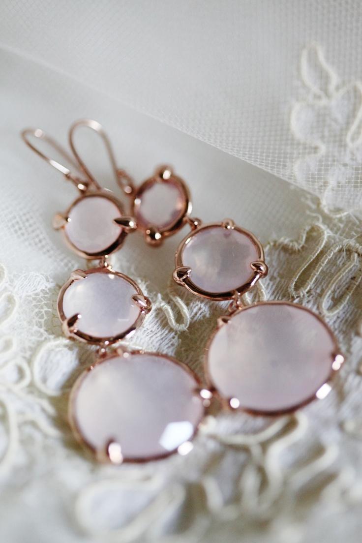 ippolita triple drop rose gold earrings