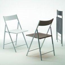 6 sedie pieghevoli First in plastica e acciaio