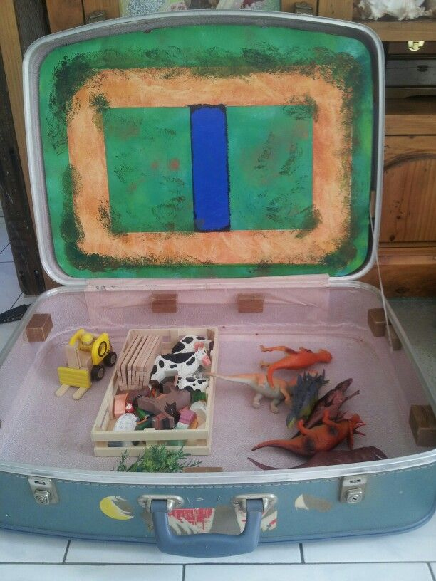 My suitcase play centre for my nephew, just like Tara Dennis from Better Homes and Gardens