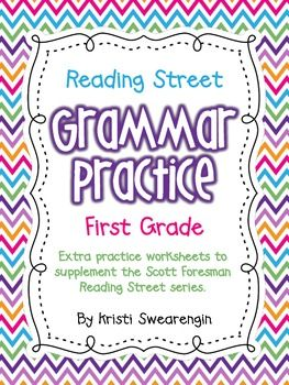 *These grammar practice sheets are the same ones included in my homework packets. Do not purchase if you have already purchased my first grade homework packets!*An entire year's worth of grammar practice! Here are 36 pages of grammar practice to supplement the first grade Scott Foresman Reading Street series.