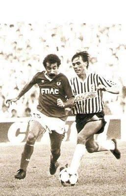 Chalana e Skoda durante o Portimonense 0-1 Benfica de 1988/89.