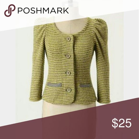 Moth yellow & silver cardigan Used & In good condition. No major flaws. Anthropologie Sweaters Cardigans