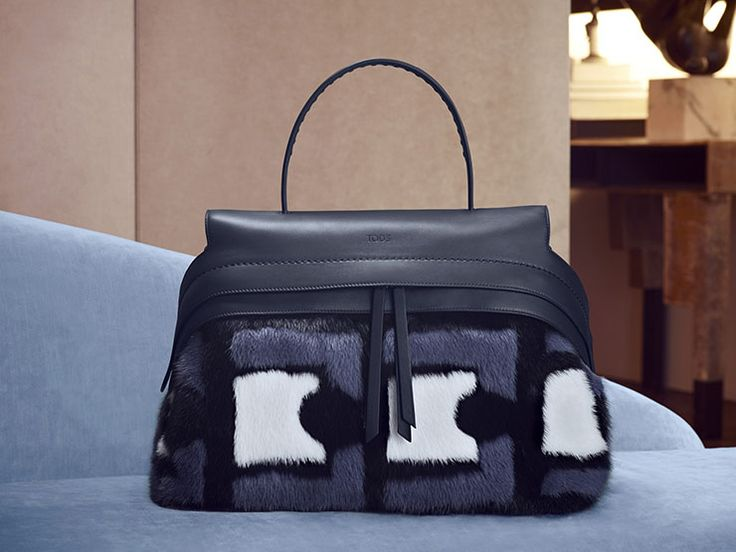 The ultimate in the search for graphic and material expression: Tod's new  medium sized Wave Bag with inlaid smooth leather front that conceals the  double ...