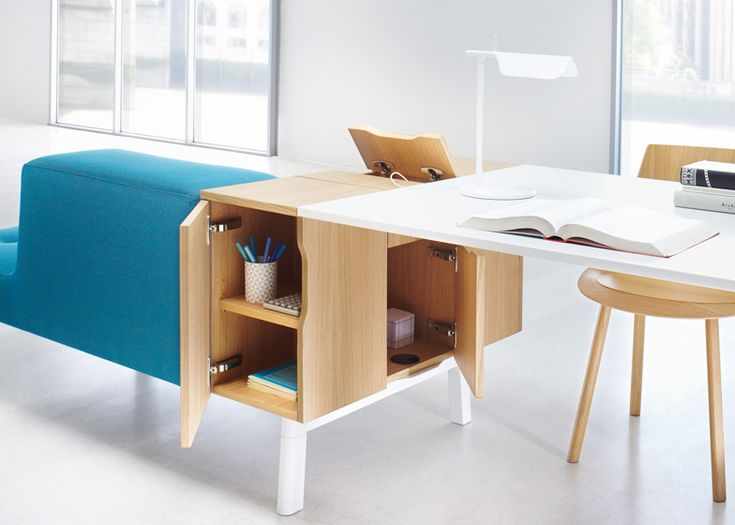 TILL GROSCH AND BJORN MEJER | OPHELIS. Modular office furniture system that can be arranged in a variety of groups and islands.