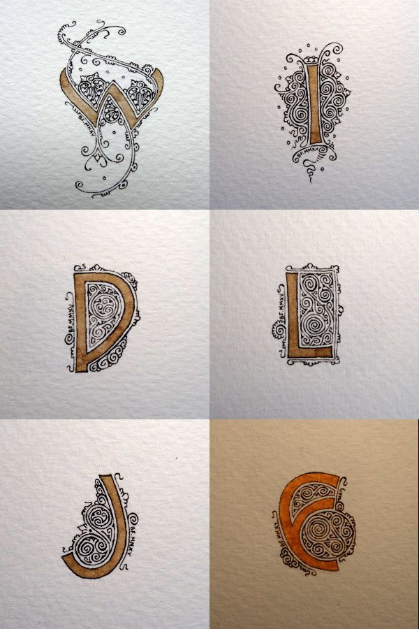 Anachropsy - Calligraphie latine par Benoit Furet - Lettrines bis