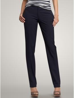 I wear these skinny dress pants with boots every other day at work.  Just so comfy you would want to wear them everyday!