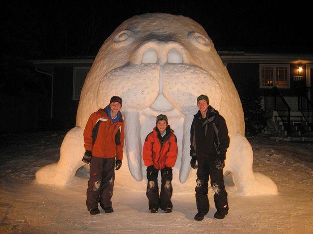 Todos os anos, durante o inverno, os irmãos Austin, Connor e Trevor Bartz se reúnem no quintal da casa de seus pais, em New Brighton, Minnesota (EUA) para construir um boneco de neve diferente. Nada de nariz de cenoura ou bolotas de neve: os rapazes criam esculturas gigantes de animais marinhos, como tartarugas e tubarões. Tudo começou há 4 a...
