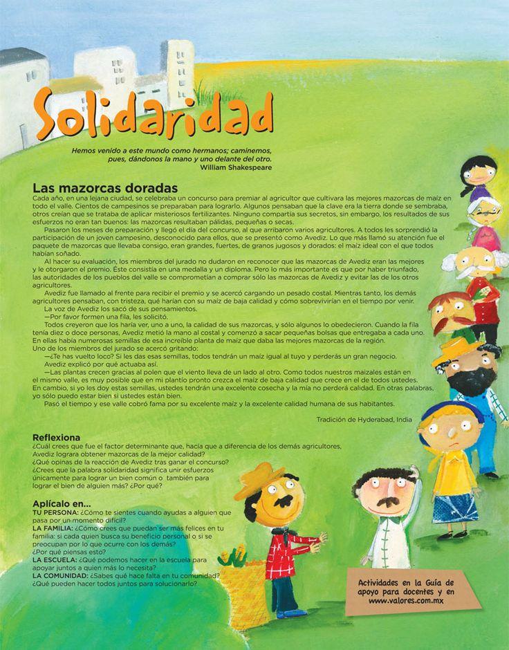 Valores.. Ejemplo de Solidaridad | Solidaridad | Pinterest ...