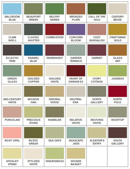 Arts and Crafts palett