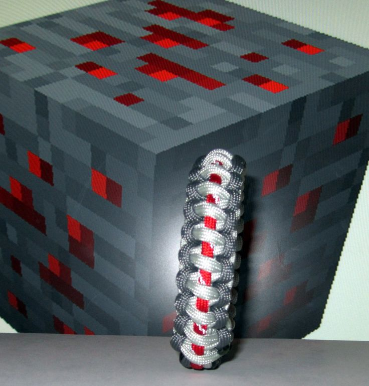Minecraft Redstone paracord survival strap bracelet