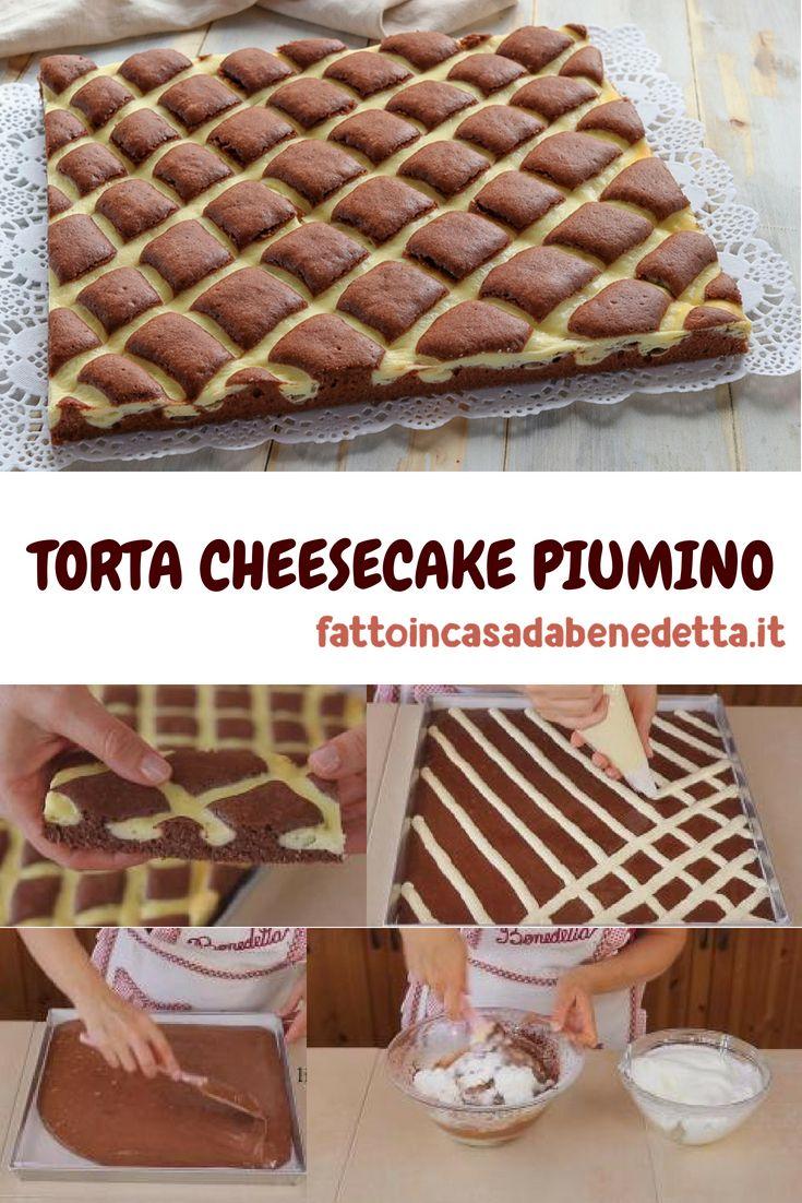 Torta soffice cheesecake piumino ricetta facile