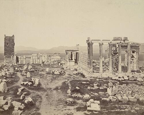 Acropolis, Propylaea and Erechtheum ca. 1865-ca. 1875