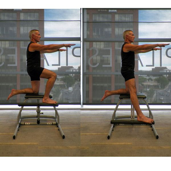 Lower Body Workout Challenge on the Pilates Chair: Single Leg Pumps - Kneeling Side
