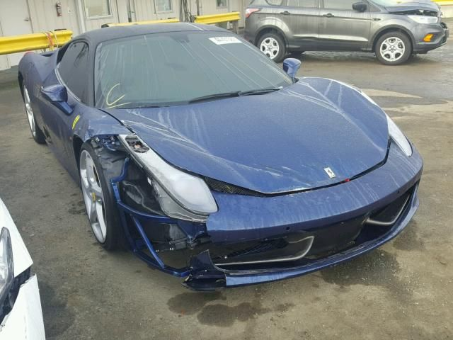 Salvage 2012 Ferrari 458 Italia Sports Cars Luxury Ferrari 458 Italia Italian Cars