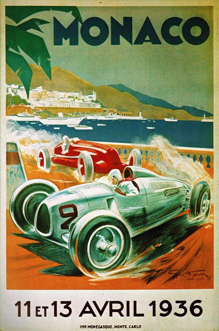 1936 Monaco Grand Prix poster                                                                                                                                                                                 More