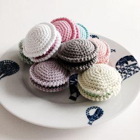 crochetfairy.blogg.se - Mönster virkade macarons