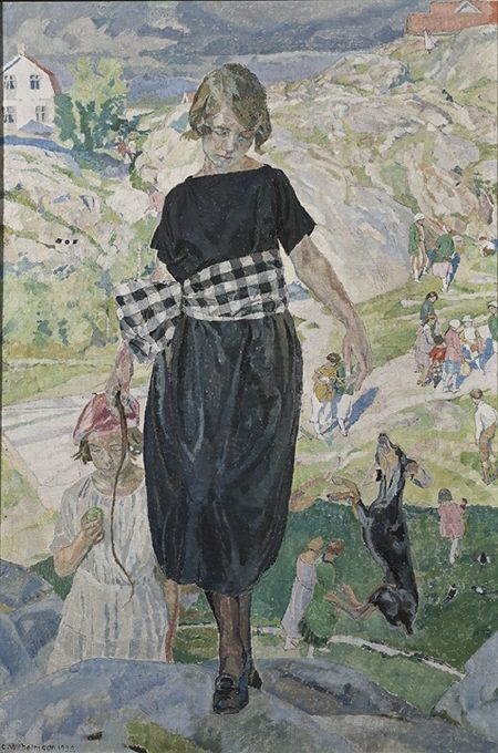 Jumping Dog By Carl Wilhelmson 1920 Nationalmuseum