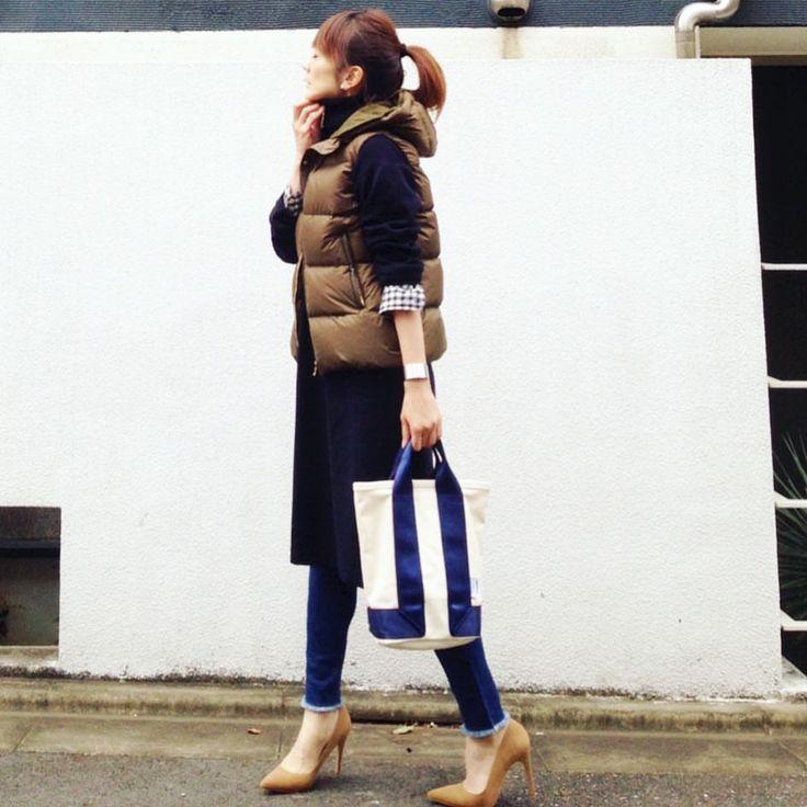 いいね!271件、コメント14件 ― LUMIEさん(@lumie0206)のInstagramアカウント: 「・ ニットワンピース × スキニーデニム ・ ・ ここは頑張ってハイヒール👠 ・ ・ tops nanouniverse onepiece milaowen pants lilybrown…」