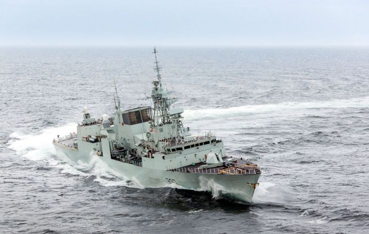 Royal Canadian Navy HMCS Fredericton; Halifax class frigate.