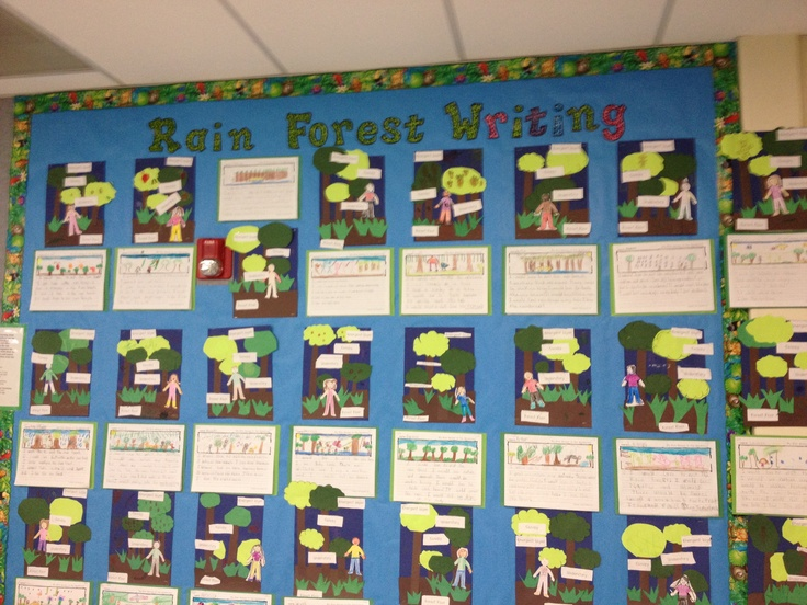 Open House-layers of the rainforest art and 5 senses writing
