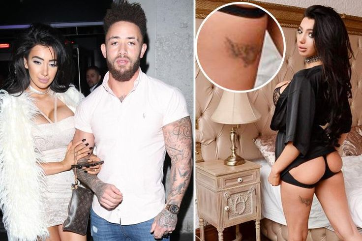 Chloe Khan flashes tattoo ex-boyfriend Ashley Cain gave her on TV show… but she's planning on having it lasered off
