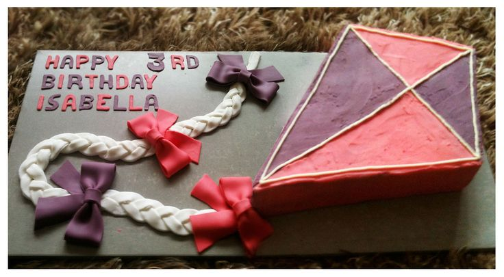 Kite Cake - Vanilla Cake - www.facebook.com/eatcakebyjaz