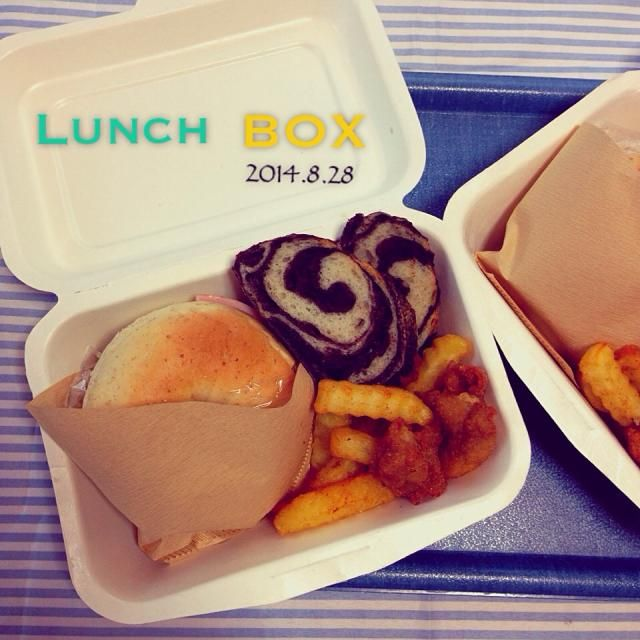 昨日焼いたライ麦ベーグル、マーブルのバケットを入れてランチBOXに♡ - 56件のもぐもぐ - 今日のお弁当 by yunoa