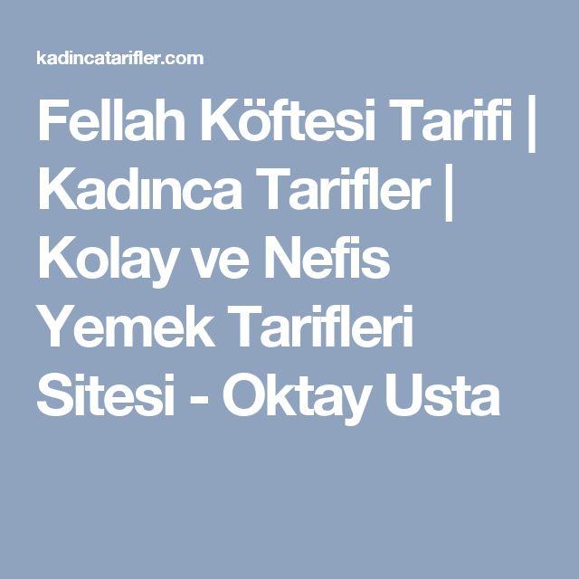Fellah Köftesi Tarifi | Kadınca Tarifler | Kolay ve Nefis Yemek Tarifleri Sitesi - Oktay Usta