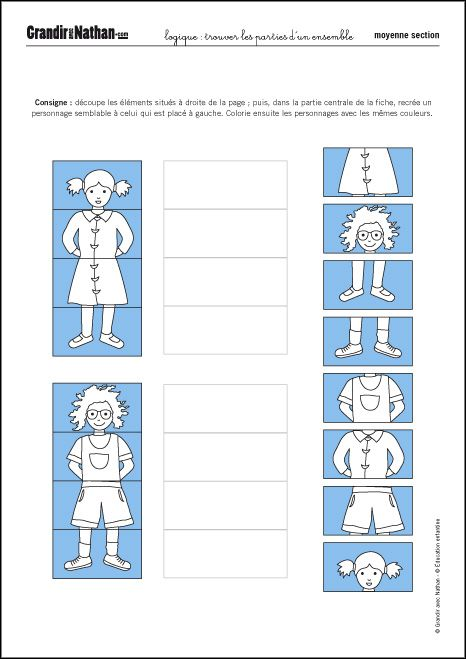 Favorit Les 25 meilleures idées de la catégorie Parties corps maternelle  YN27