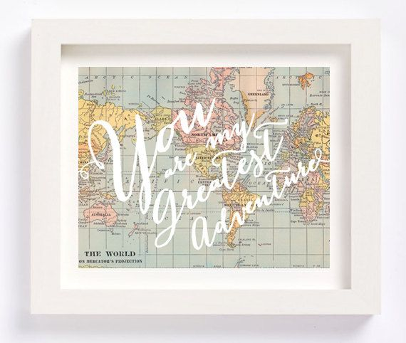 Printable - Oh, the places you'll go Dr. Seuss vintage map print