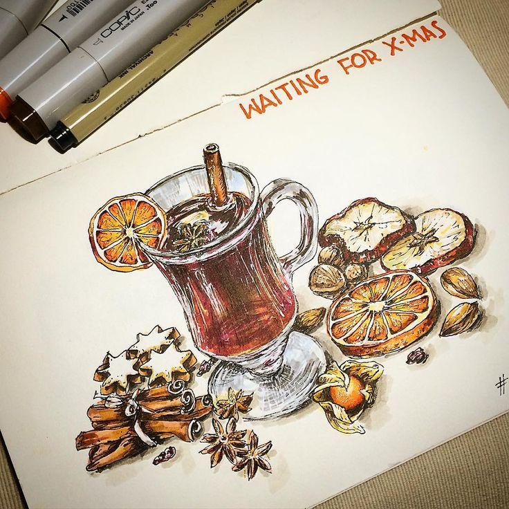 Soon... #sketch #sketching #sketchingeveryday #drawing #mulledwine #gluwein…