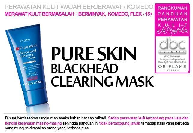 Pure Skin Blackhead Clearing Mask (24202) Deep Action Mask dengan anti microbial salicylic acid dan detect technology yang mengurangi serta mencegah komedo dan flek. Membersihkan dan mengecilkan pori, mengendalikan kilap. Gunakan 1-2 kali per minggu. 50 ml.