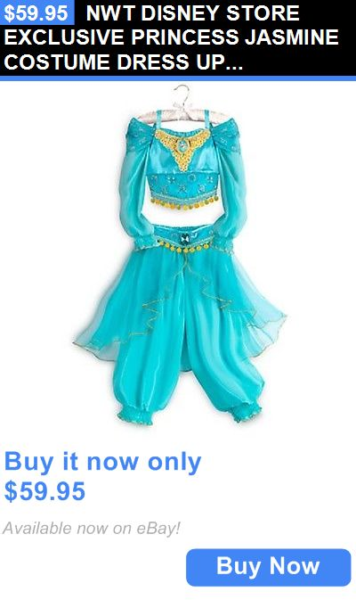 Halloween Costumes Kids: Nwt Disney Store Exclusive Princess Jasmine Costume Dress Up 9/10 BUY IT NOW ONLY: $59.95