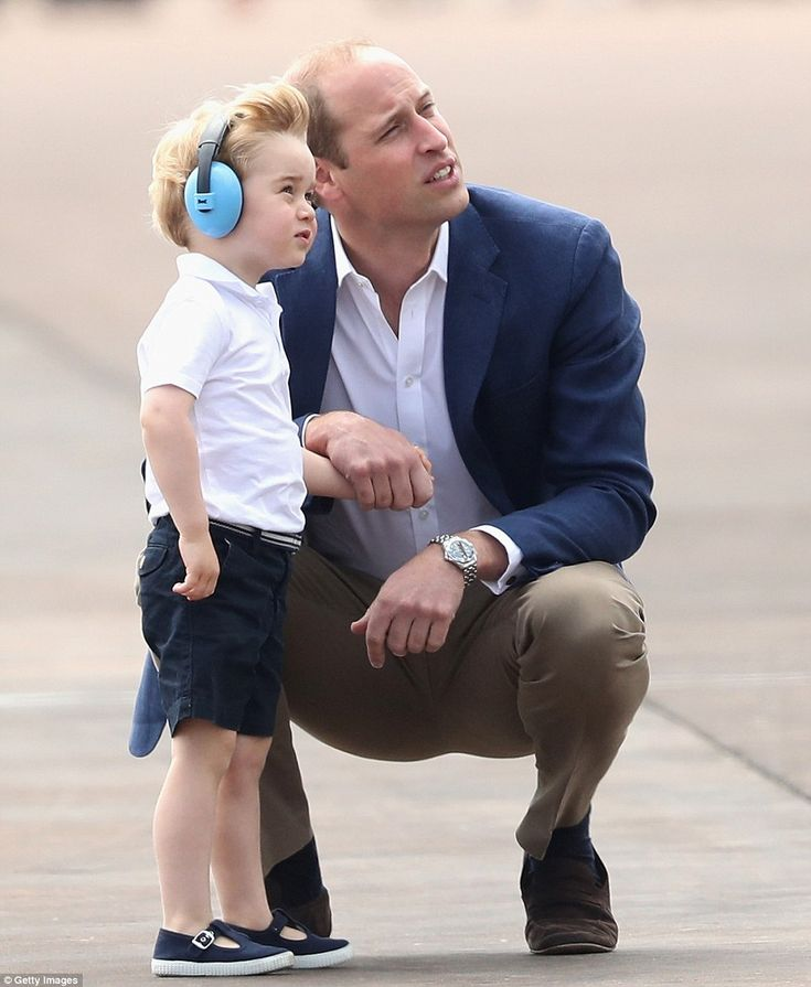 08.07.2016 The family travelled by train from Paddington to the air show, which is staged in support of the RAF Charitable Trust