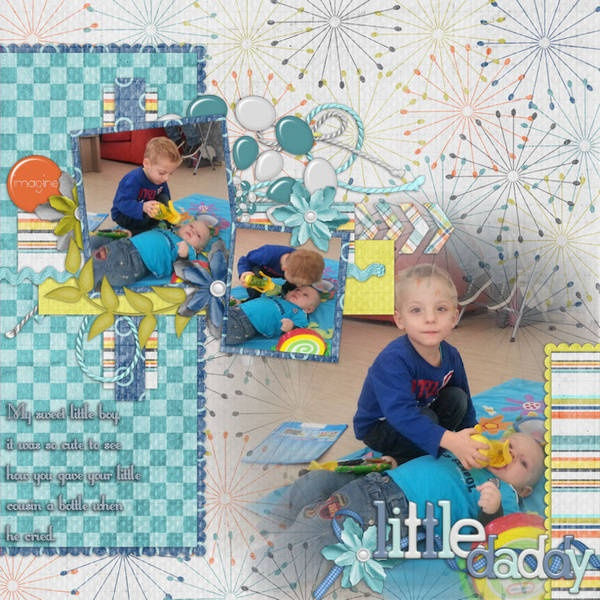 my little boy Bas with his Cousin Tim.   Credits:  Destination Imagination {kit}+{bonus papers} by Bella Gypsy Designs.  Maximum Cool Alpha's by Bella Gypsy Desings.  Member Spotlight October Template  LittleLordFontleroy {font}