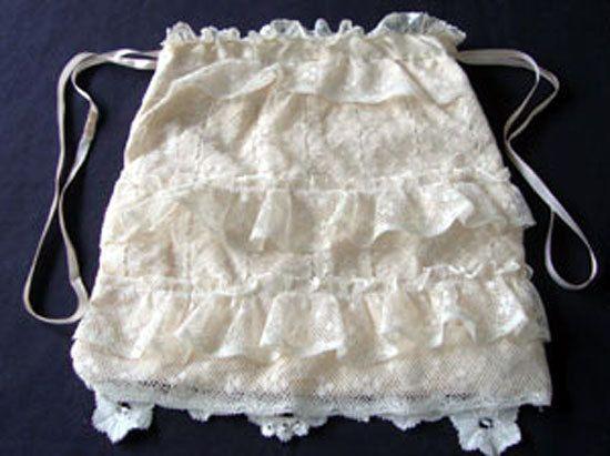 Antique Edwardian Lace & Silk Boudoir Bag c.1920 by chalcroft, $32.00