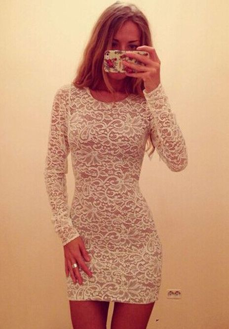 Shop White Long Sleeve Slim Lace Bodycon Dress online. Sheinside offers White Long Sleeve Slim Lace Bodycon Dress & more to fit your fashionable needs. Free Shipping Worldwide!